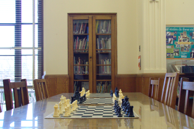 chess boards ready to play