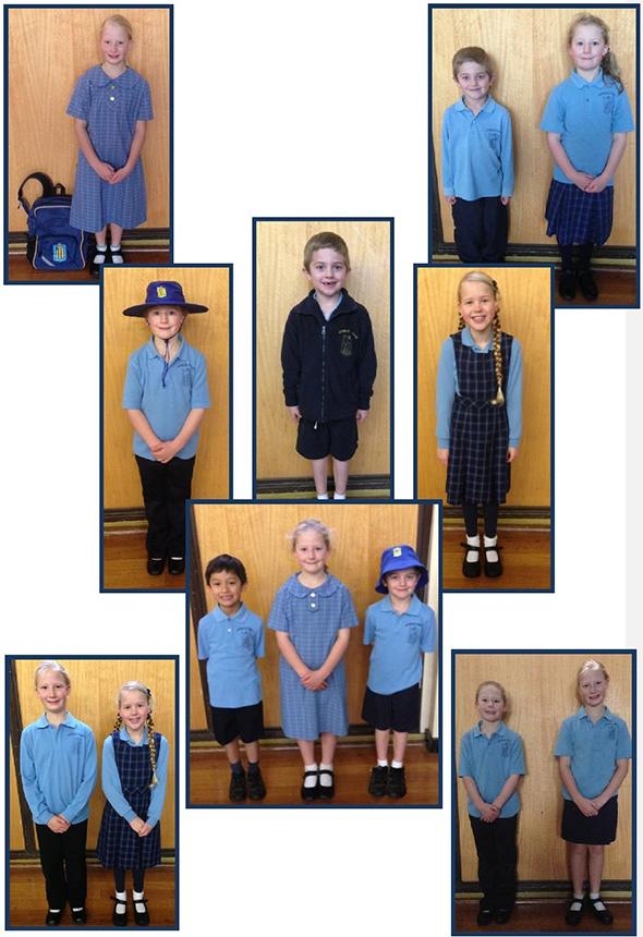 photos of children wearing the school uniform