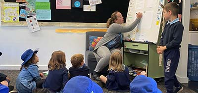 Kids with teacher