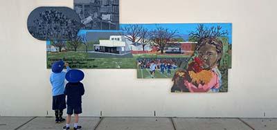 Kids in gallery